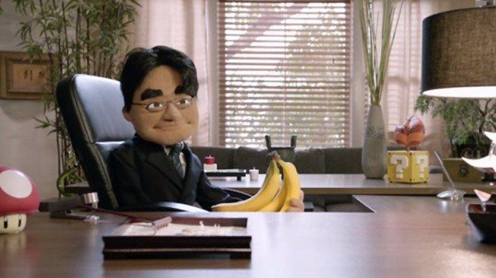Durante a E3 2015, Satoru Iwata foi representado por um boneco em vídeo (Foto: Reprodução/Nintendo Life)