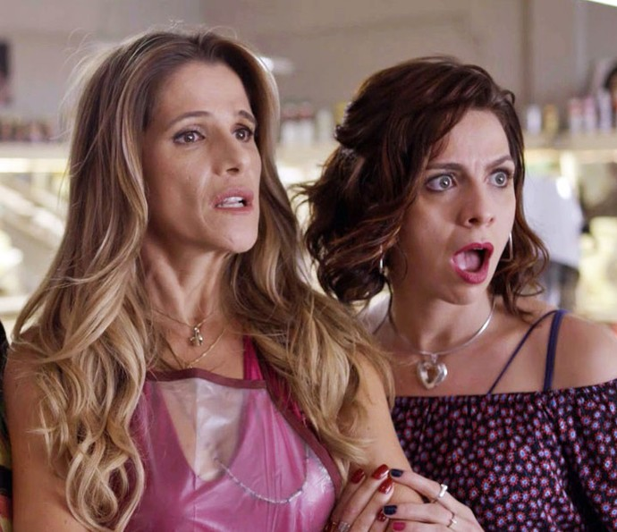 Marlene e Josy ficam boquiabertas com revelação (Foto: TV Globo)