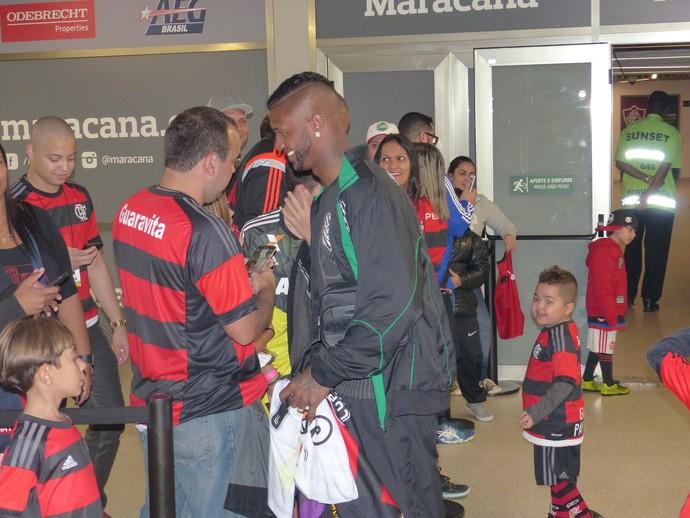 Felipe goleiro Flamengo x Figueirense (Foto: Fred Gomes/GloboEsporte.com)