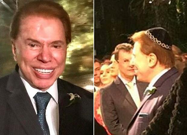 Silvio Santos no casamento de Patricia Abravanel, a 'filha número 4' (Foto: Reprodução/Instagram)
