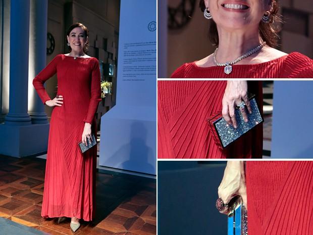 Maria Marta e seus acessórios de diamantes (Foto: Arthur Meninea/TV Globo)