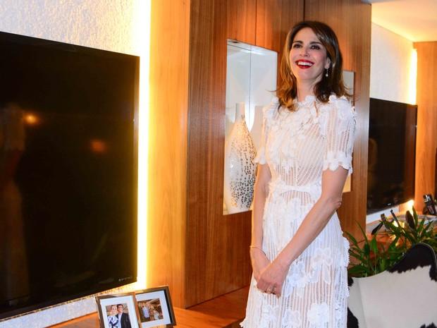 Luciana Gimenez em festa em São Paulo (Foto: Leo Franco/ Ag. News)