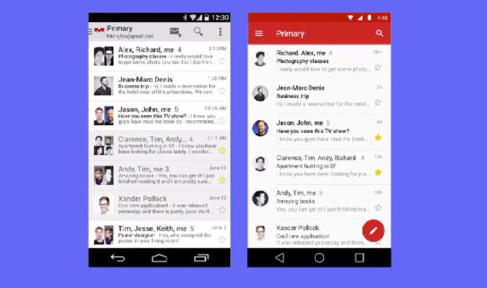 Google apresentou diferenças entre Android KitKat e Androdi L (Foto: Reprodução/Google)