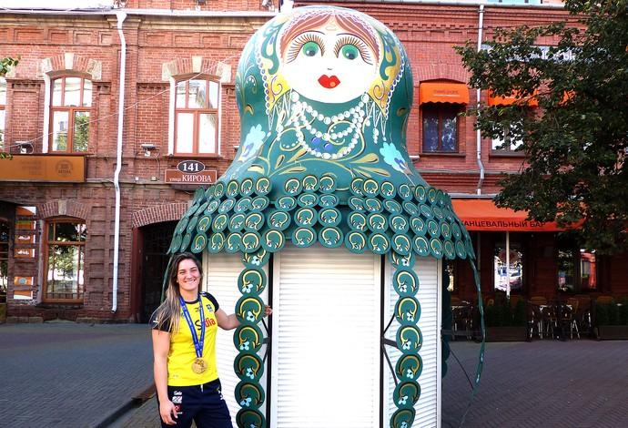 Mayra Aguiar medalha judô passeio em Chelyabinsk (Foto: Raphael Andriolo)