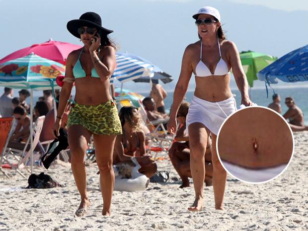 Zilu Godoi com piercing (Foto: Marcos Ferreira / FotoRioNews)