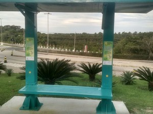 Dois protótipos do abrigo estão instalados em uma faculdade da Serra (Foto: Divulgação/Mile4)