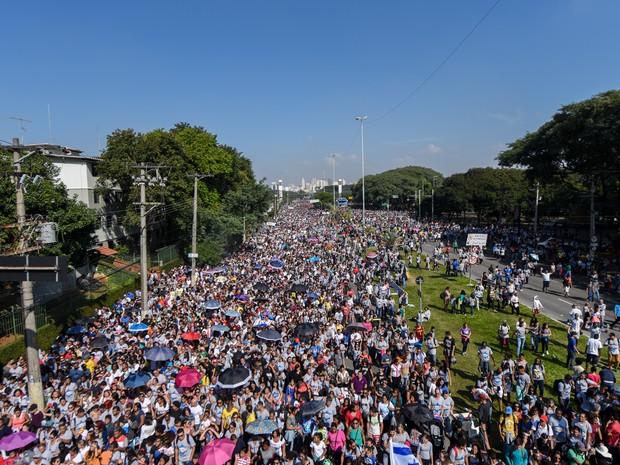 Marcha para Jesus (Foto: Flavio Moraes/G1)
