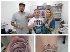 Fernando Medeiros e Aline Gotschalg fazem novas tatuagens