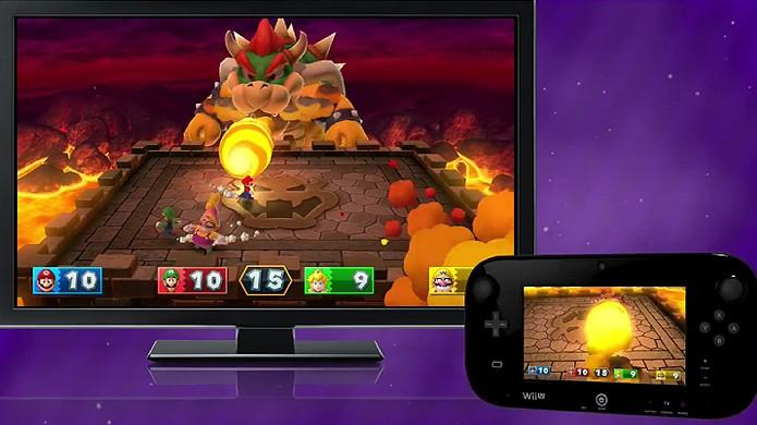 Bowser Party em Mario Party 10 traz disputa entre jogadores e Bowser (Foto: Reprodução: YouTube)