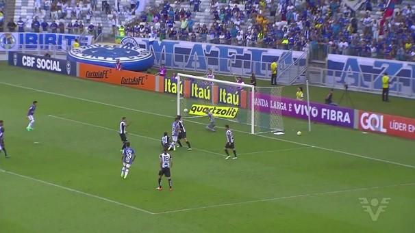 Santos empatou em 2 a 2 com o Cruzeiro neste domingo, no Mineirão (Foto: Reprodução/TV Tribuna)