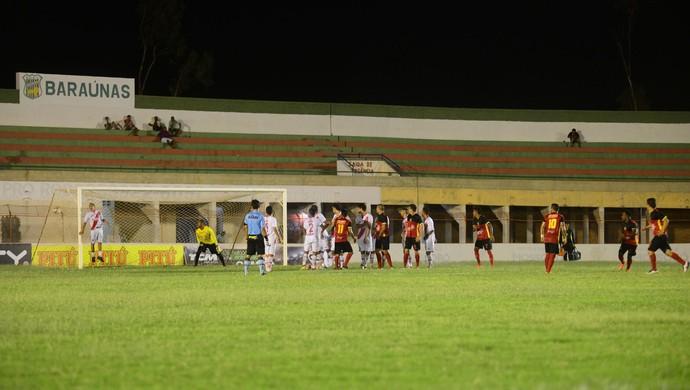 Potiguar de Mossoró x Globo FC, no Estádio Nogueirão - gol de Renatinho Carioca (Foto: Allan Phablo Queiroz)