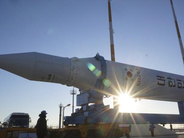 Coreia do Sul faz terceira tentativa de lançar foguete (Foto: Reuters/Korea Aerospace Research Institute)