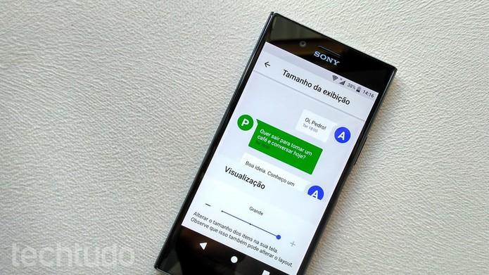 83f1df707 Aumentar o tamanho da fonte no Android pode facilitar a visualização do  conteúdo (Foto