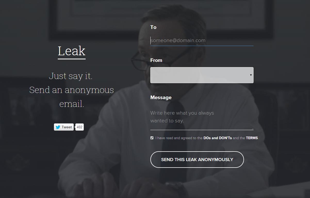 Quer mandar e-mails anônimos? Conheça o Leak
