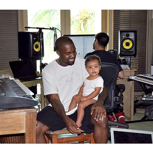 Kanye West com North (Foto: Reprodução/Instagram)