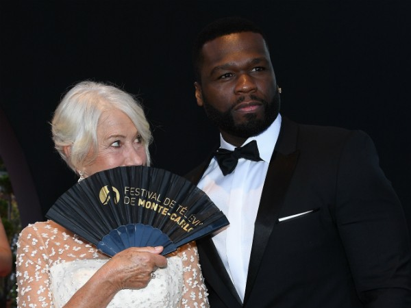O rapper 50 Cent e a atriz Helen Mirren (Foto: Getty Images)