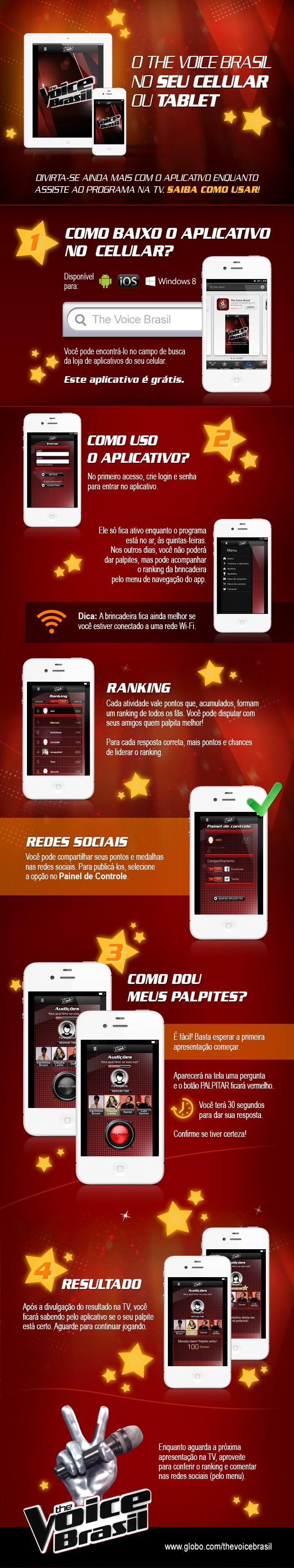 Tutorial aplicativo atualizado (Foto: Tv Globo/ The Voice Brasil)