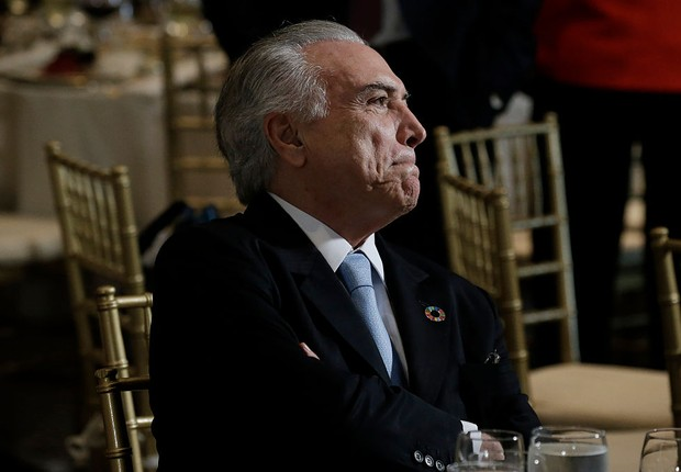 O presidente Michel Temer em jantar na ONU (Foto: Peter Foley/Getty Images)