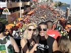Sophia Abrahão e Sergio Malheiros curtem trio de Bell Marques na Bahia