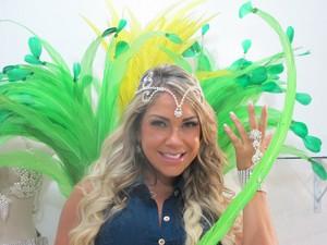Gil Jung estreiará no carnaval com fantasia de R$ 80 mil (Foto: Ana Paula Okumura/G1)