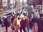 Sabrina Petraglia curte férias em NY com Agatha Moreira