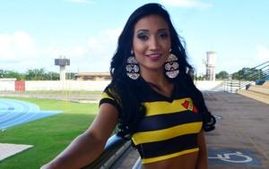 Larissa Katriny, candidata do Santana ao título de Musa do Amapazão 2016 (Foto: Lorena Kubota/GE-AP)