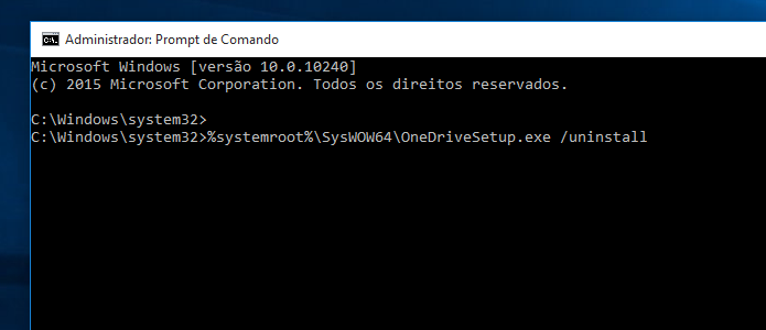 Desinstalando o OneDrive no Windows 10 (Foto: Reprodução/Edivaldo Brito)