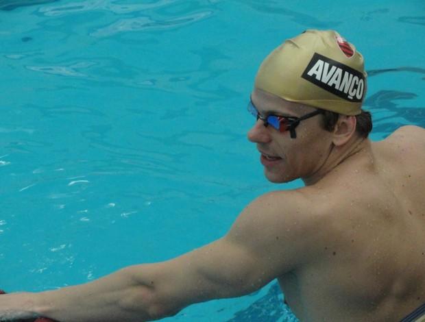Cesar Cielo treino Finkel natação (Foto: João Gabriel Rodrigues / GLOBOESPORTE.COM)