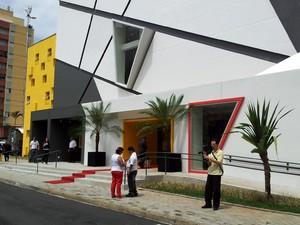 Teatro Castro Mendes é palco de transição de cargo de prefeitos em Campinas (Foto: Lana Torres/G1 Campinas)