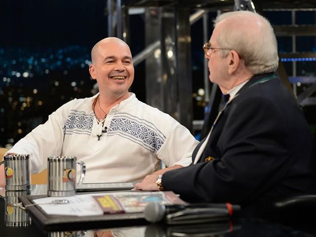 Padre Beto participa da gravação do 'Programa do Jô' (Foto: TV Globo/Programa do Jô)