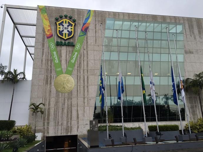 Sede da CBF medalha de ouro (Foto: Thiago Dias)