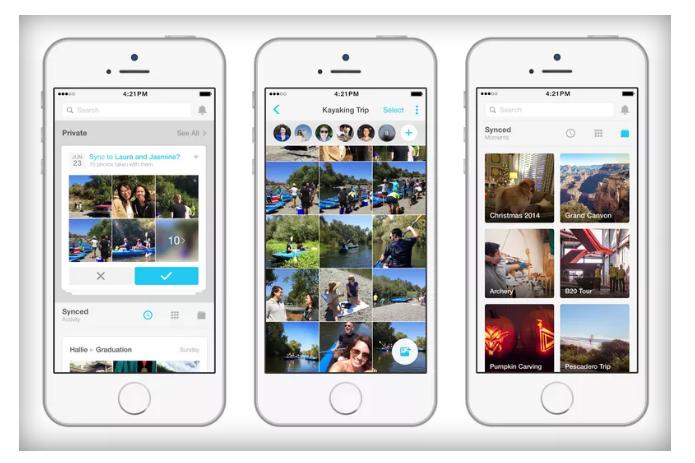 Para não perder fotos sincronizadas, usuários terão que baixar o Moments (Foto: Reprodução/Facebook)