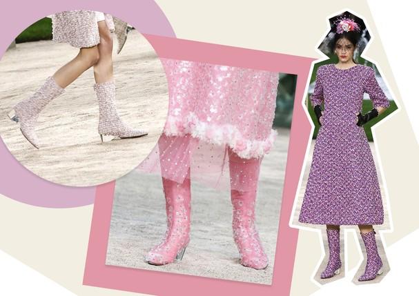 Botas na alta-costura: Chanel (Foto: Antonio Barros, ImaxTree, Reprodução e Getty)
