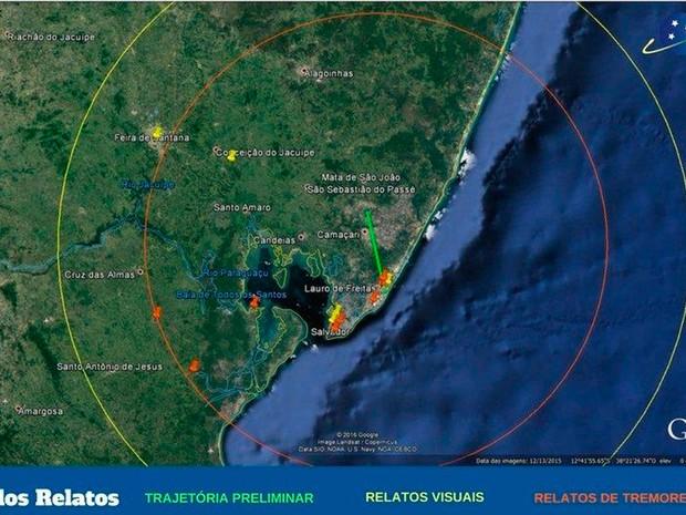 EXOSS publicou infográfico que mostra raio de visualização de testemunhas (Foto: Reprodução)