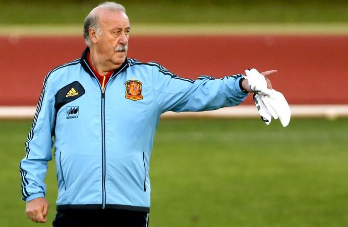 Vicente del Bosque treino da Espanha (Foto: EFE)
