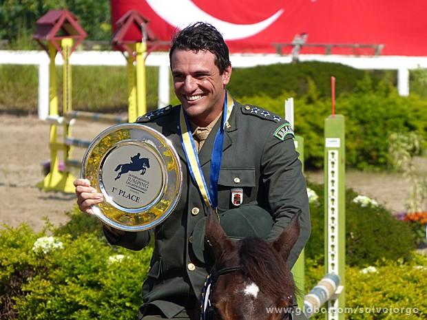 Campeão! Théo vence prova na Turquia (Foto: Salve Jorge/TV Globo)