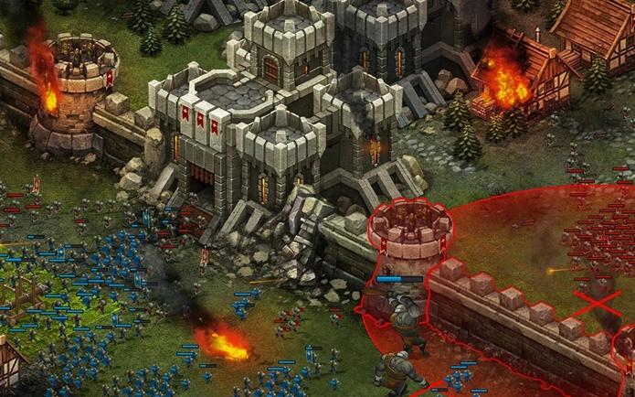 Jogo de estratégia com combates medievais que podem ser travados pelo Android ou Facebook (Foto: Divulgação)