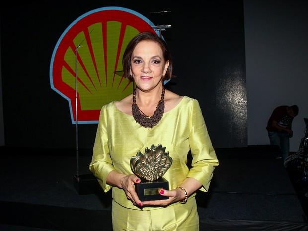 Denise Del Vecchio em prêmio de teatro em São Paulo (Foto: Manuela Scarpa/ Foto Rio News)