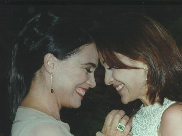 Regina Duarte (Helena) e Gabriela Duarte (Maria Eduarda) na novela (Foto: Acervo TV Globo)