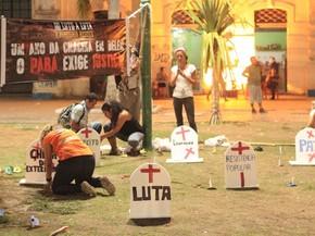 Ato 1 ano chacina Belém (Foto: Alexandre Yuri/ G1)