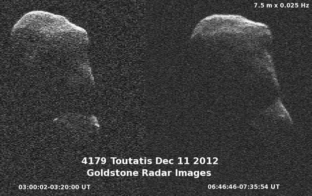 Imagem feita pela Nasa do asteroide Toutatis (Foto: Reuters/Nasa/JPL/Caltech)