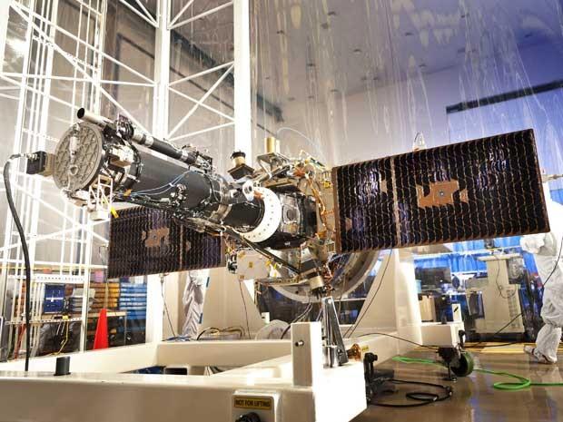 O satélite IRIS ('Interface Region Imaging Spectrograph').  (Foto: Jim Dowdall / Nasa / Lockheed Martin / Via Reuters )