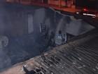 Incêndio destrói fábrica de solados de sapatos, em Goiânia; veja vídeo