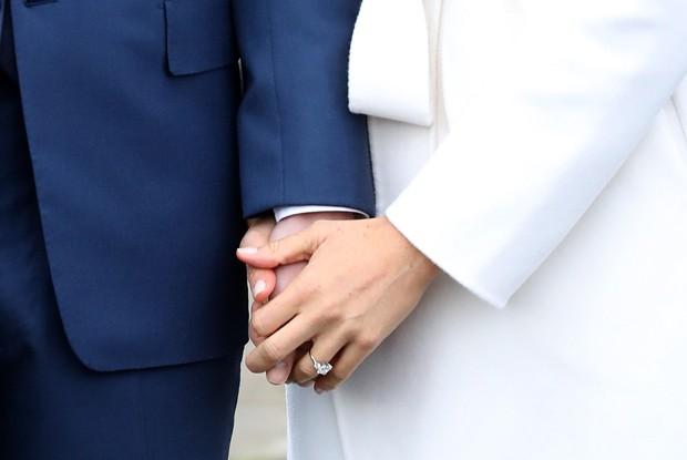 Anel de noivado desenhado pelo príncipe Harry (Foto: Chris Jackson/Getty Images)