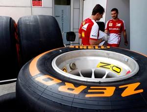 Pneus ferrari GP da Malásia (Foto: Agência AP)