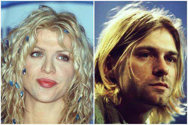 Courtney Love e Kurt Cobain nos anos 1990. (Foto: Getty Images)