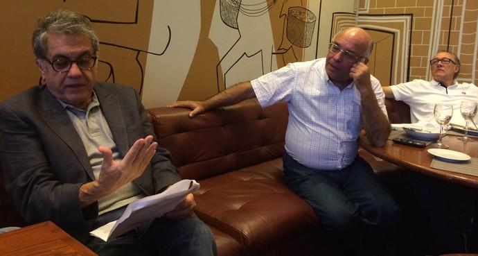 Carlos Miguel Aidar e Ataíde Gil Guerreiro São Paulo (Foto: Marcelo Hazan)