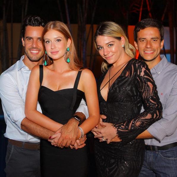Marina Ruy Barbosa com o namorado, Xandinho Negrão, a atriz Luma Costa e o marido, Leonardo Martins (Foto: Reprodução/Instagram)