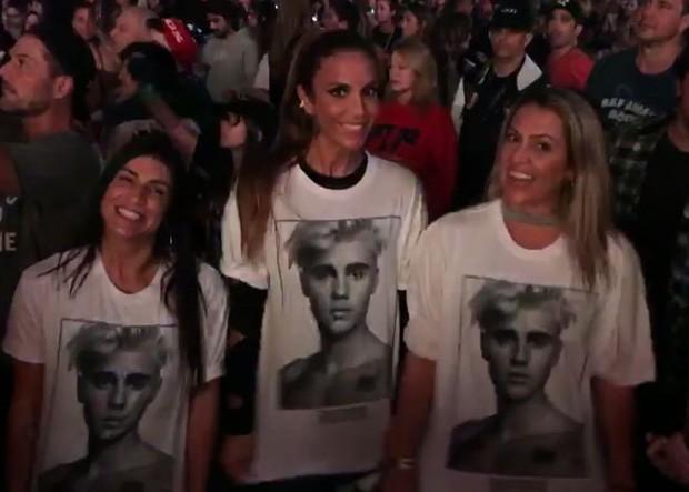 Ivete Sangalo com camiseta com foto de Justin (Foto: Reprodução/Instagram)