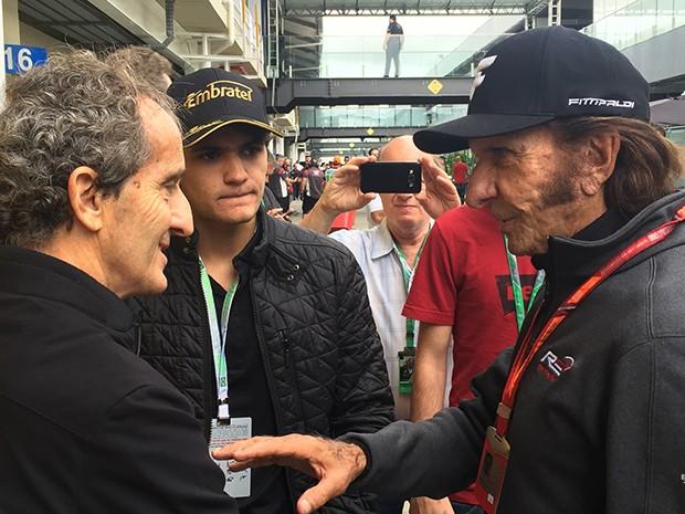 Seis titulos mundiiais na F1_Emerson Fittipaldi bicampeão e Alain Prost tetracampeão e Pietro Fittipaldi que pode ser campeão da World Series (Foto: Conexão Saloma)